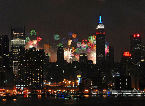 Fuegos Artificiales del 4 de Julio en New York