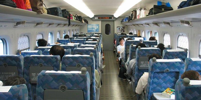 interior del shinkansen