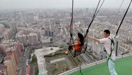 Columpio más alto del mundo... en China