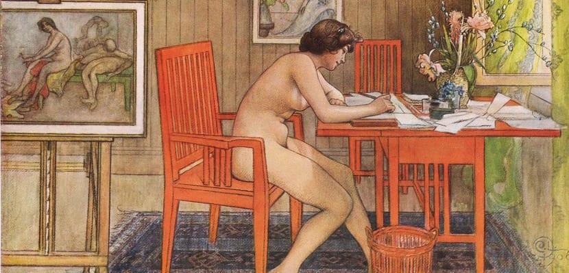 Acuarela sobre nudismo de 1906