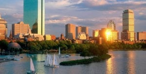boston al atardecer