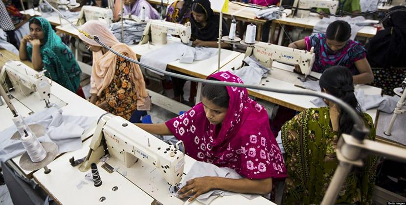 Mujeres Indias trabajando