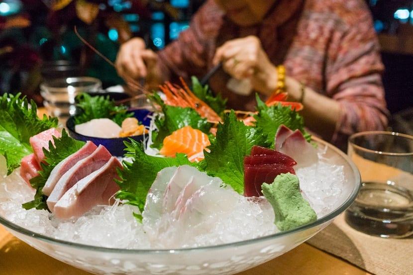 Fuente de comida japonesa