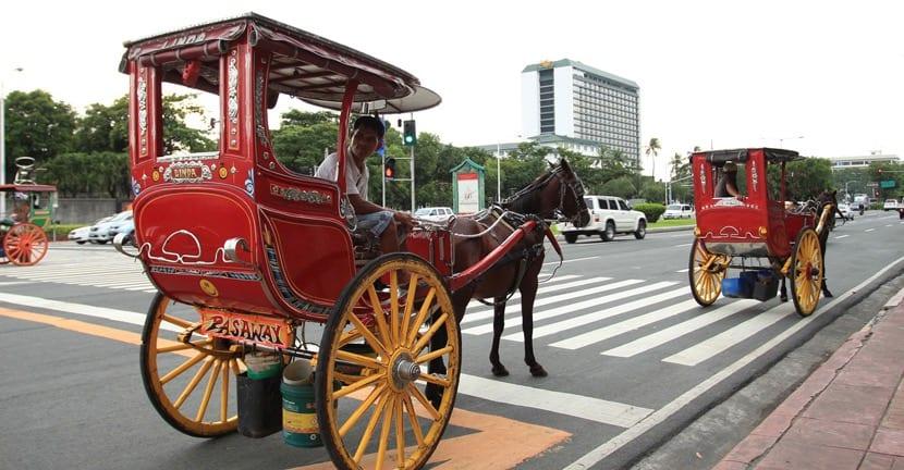 Calesas en Manila
