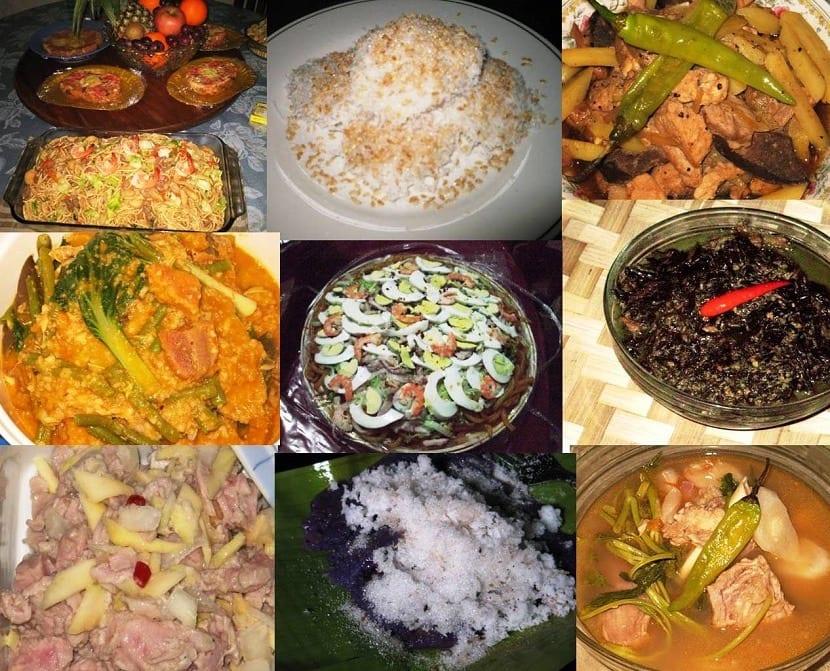 Platos de comida filipina
