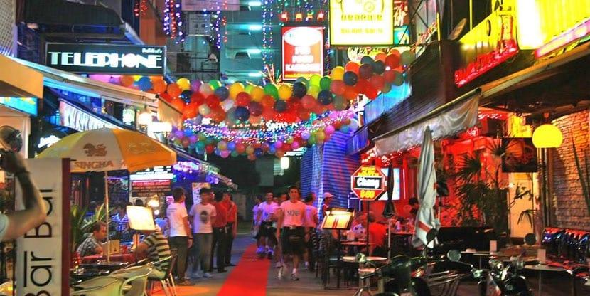 Calle Silom Soi de Bangkok