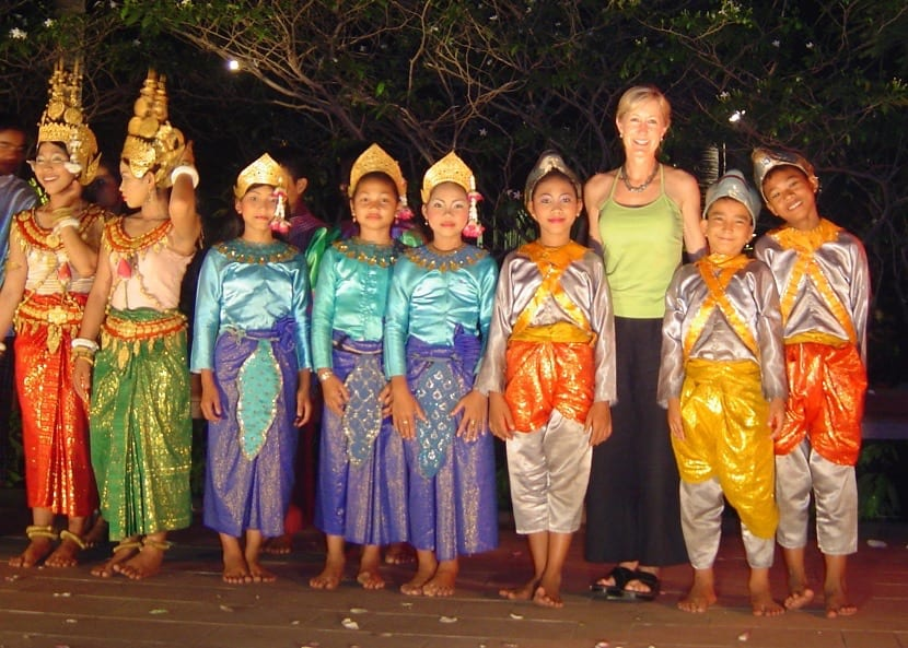 Ropa tradicional en Camboya