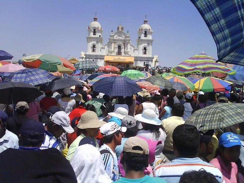 Peregrinación para visitar la virgen de Yacua