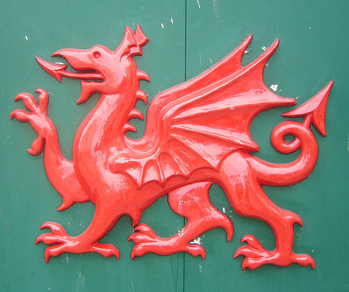 Dragón de la bandera de Gales