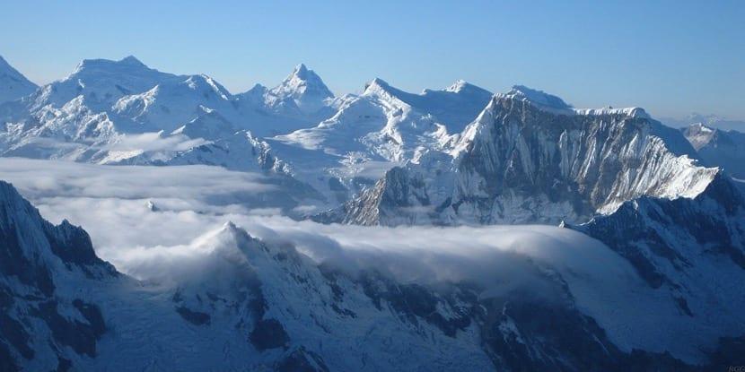 Cordillera de Perú nevada