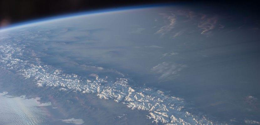 Cordillera de Los Andes vista desde el espacio