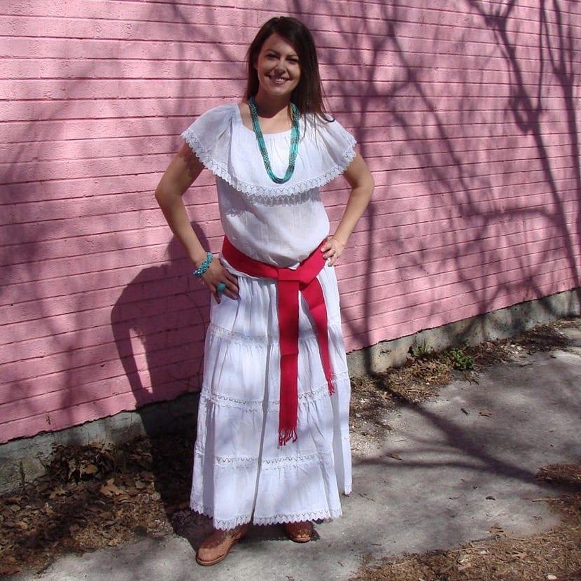 Vestido mexicano para mujer