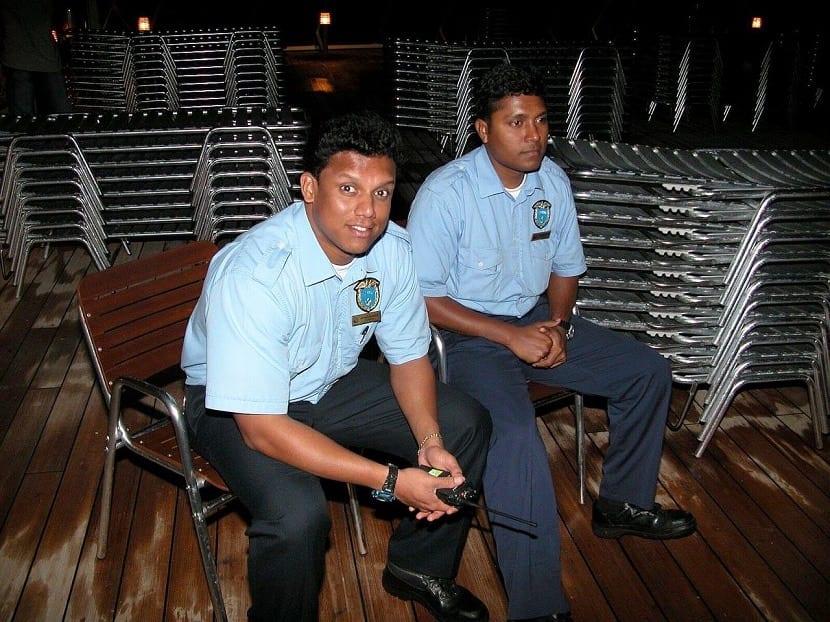 Trabajadores de un crucero