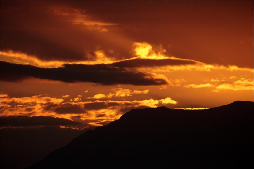 Anochecer en el valle del Rift