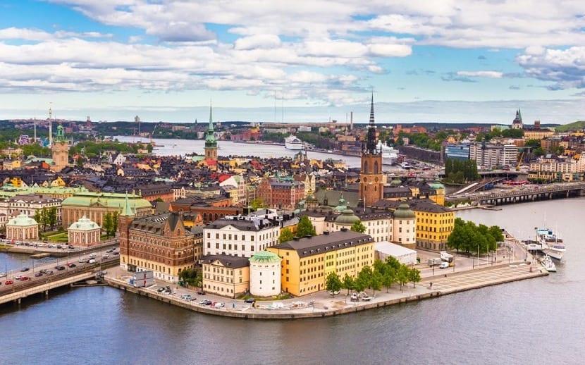 Estocolmo desde el cielo