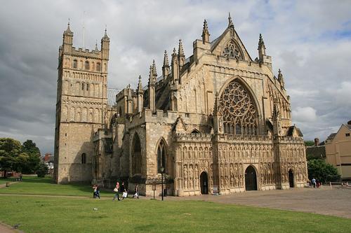 Fachada de la Catedral de Exeter en Devon