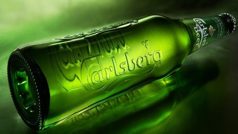 Botella de Carlsberg