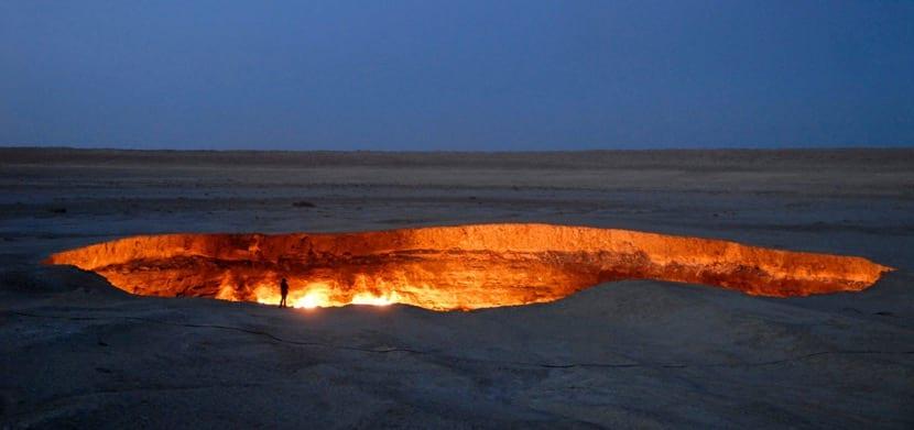Cráter de gas en Karakum
