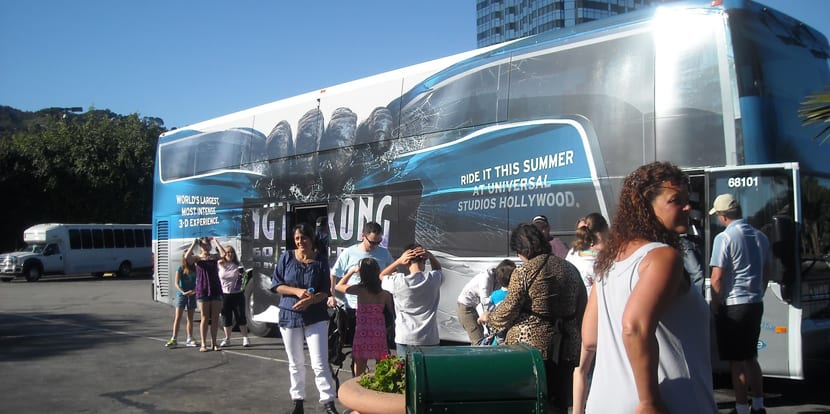Autobuses a Universal Studios