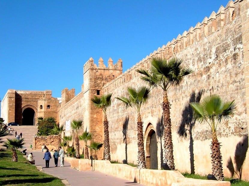 Muralla en Marruecos en una de las ciudades importantes de África