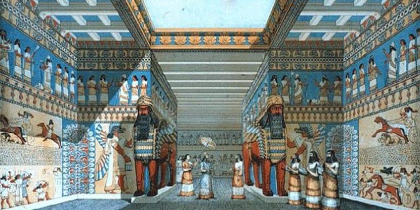 Reconstrucción de palacio de Ninive