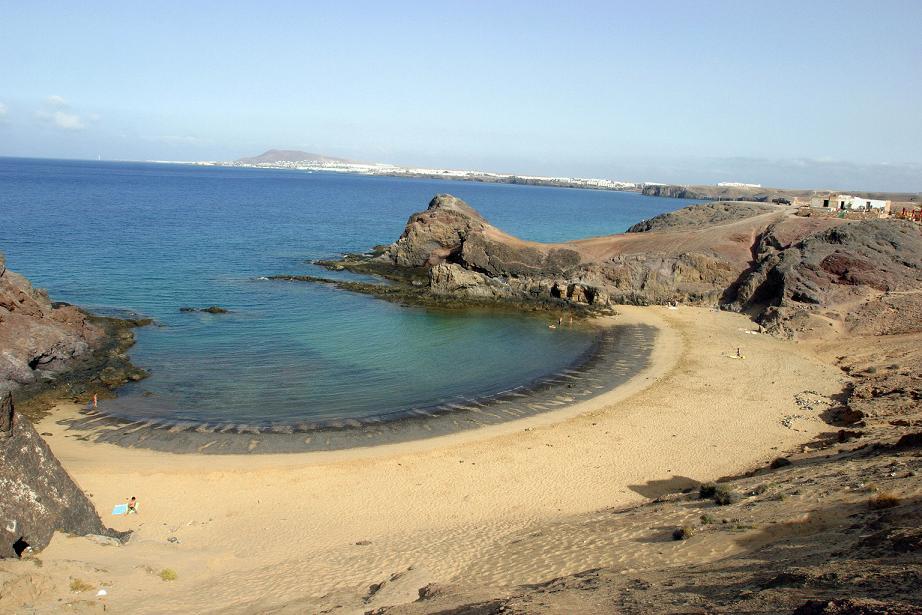 La playa de Papagayo, en Lanzarote