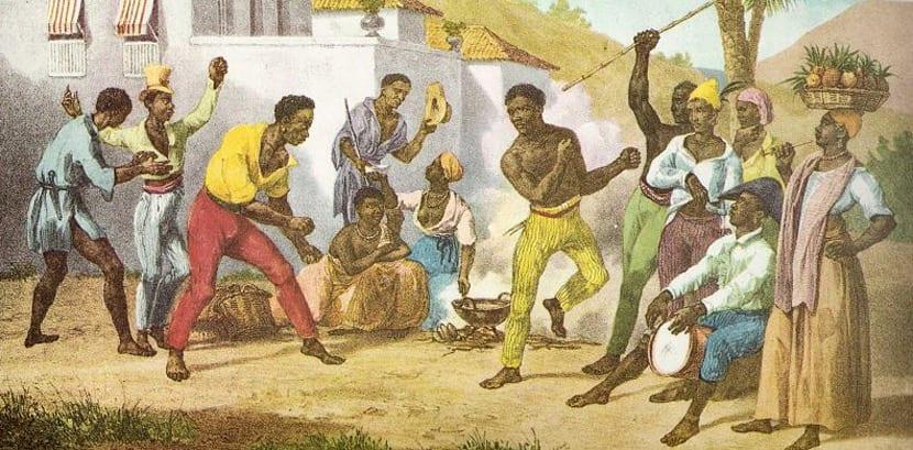 Pintura de esclavos en Brasil