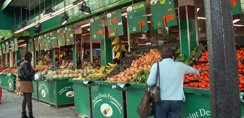 mercados en Saint Denis París