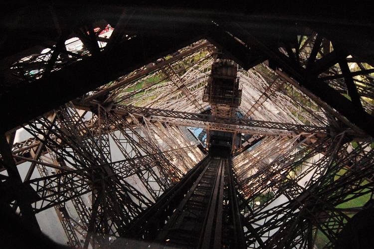 La Torre Eiffel desde dentro