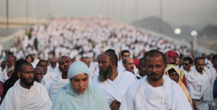 Gente en el Hajj