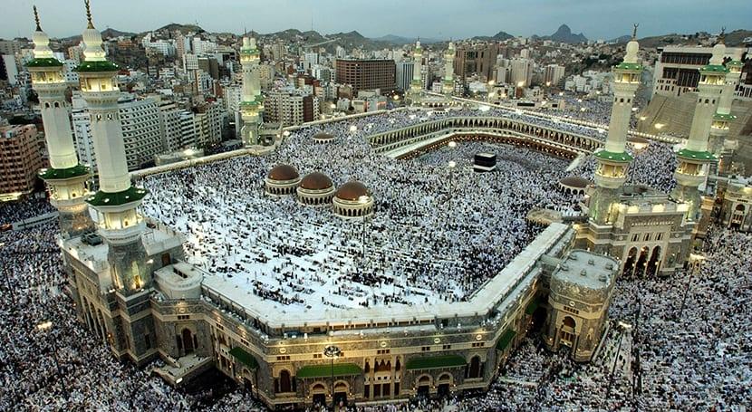 La Meca desde arriba