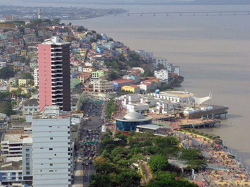 Vista del Malecón de Guayaquil
