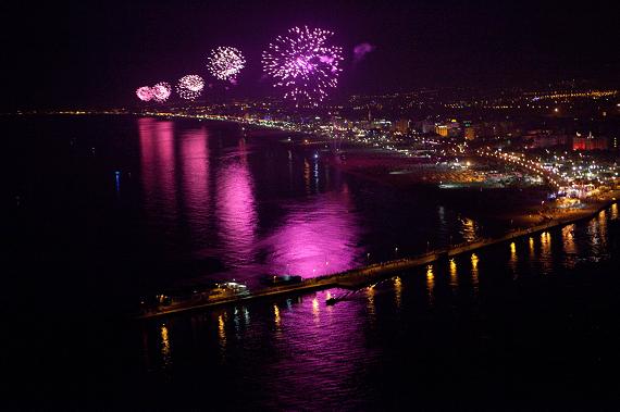 La Noche Rosa en Rimini