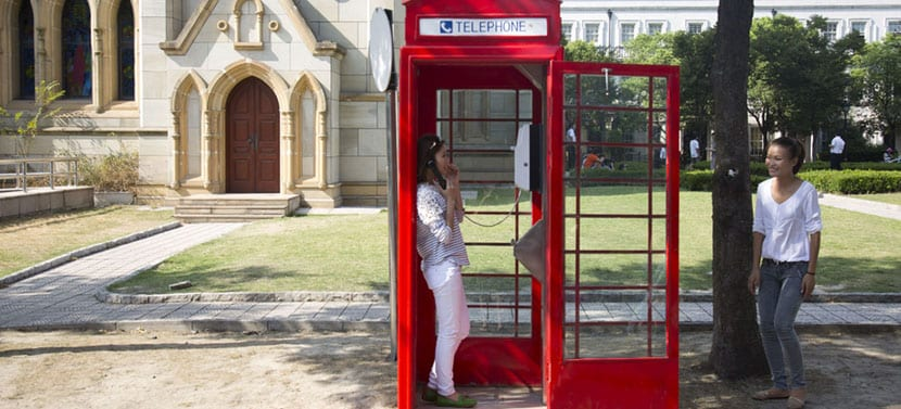 cabinas teléfonicas Thames Town
