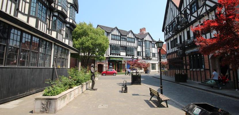 Calles en Thames Town