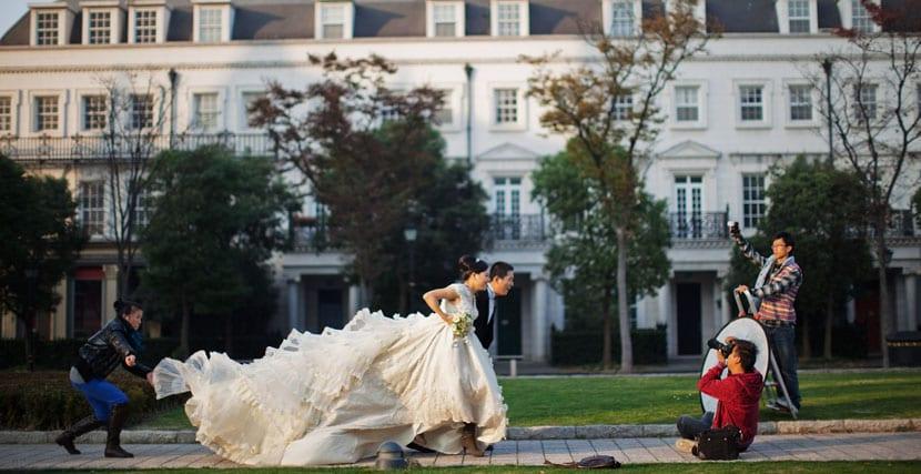 boda en Thames Town