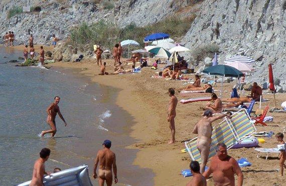 Playa nudista de Italia