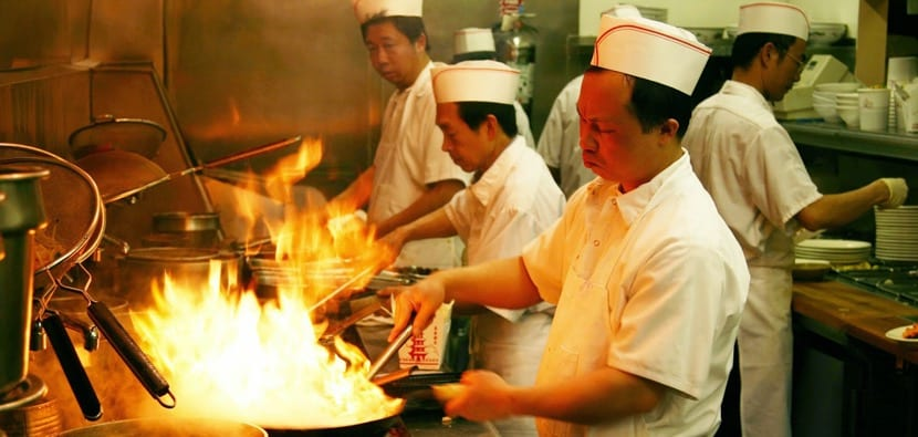 Cocinando con Wok