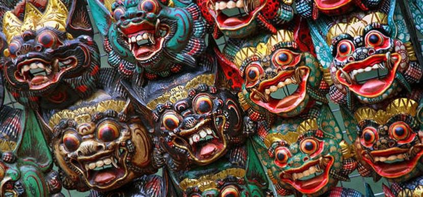 máscaras balinesas