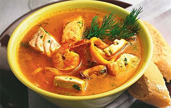 Una de las muchas presentaciones de la sopa de cherna