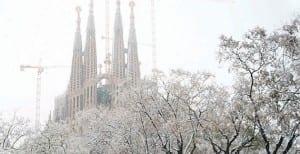 Barcelona con nieve