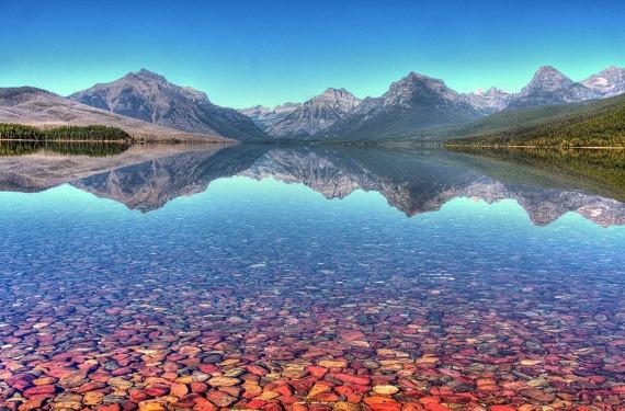 Lago McDonald en Estados Unidos