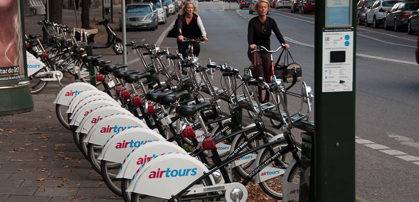Punto de alquiler de bicicletas en Estocolmo