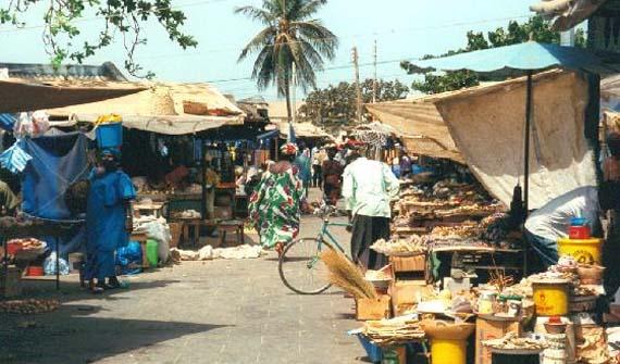 Mercadillos de Banjul en Gambia