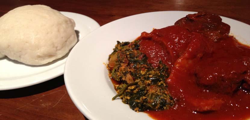Fufu. elaboración gastronomica de Gambia