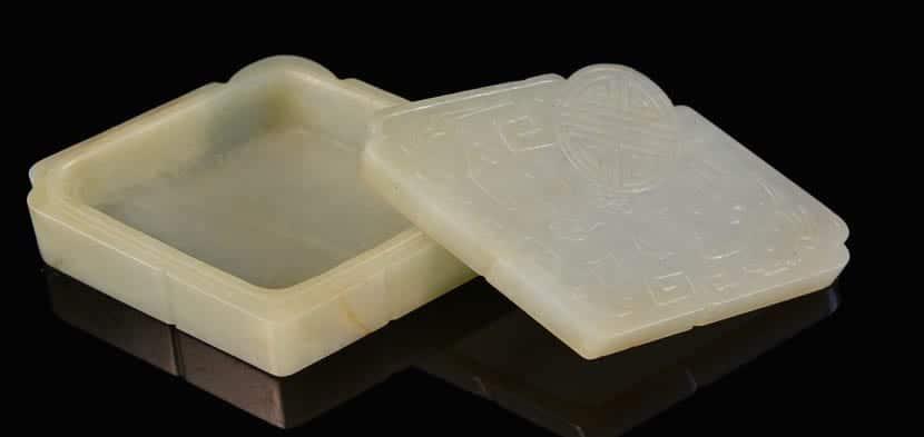 Caja de Jade blanco