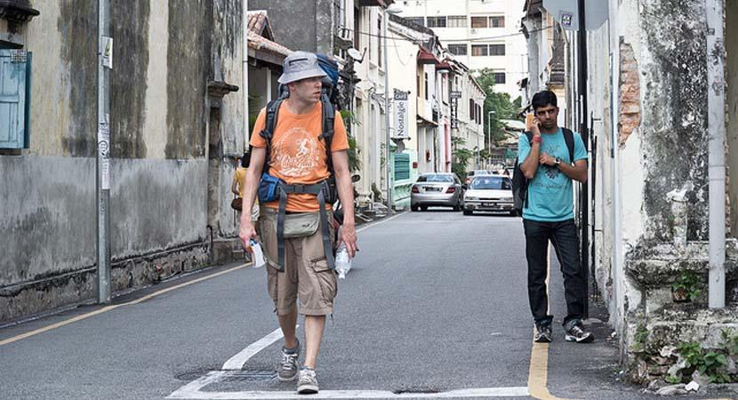 Turista caminando