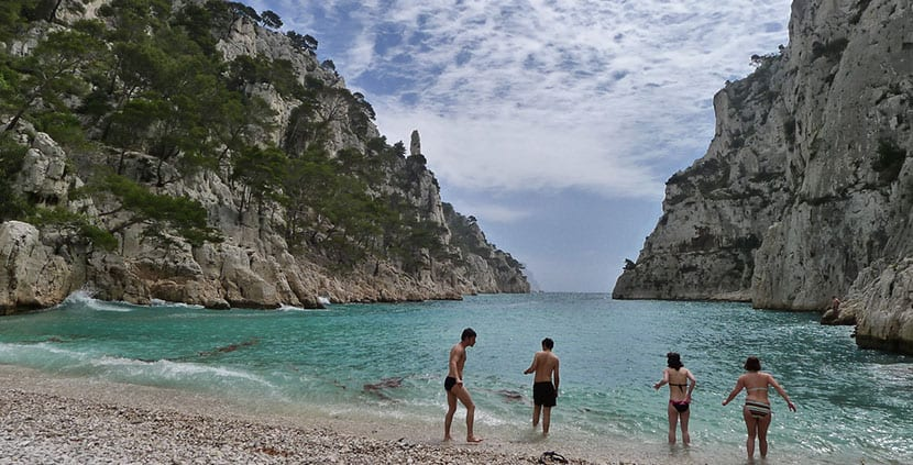 playa Calanque D'En Vau, a las afueras de Marsella