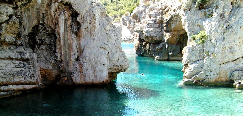 Playa Stiniva en Croacia