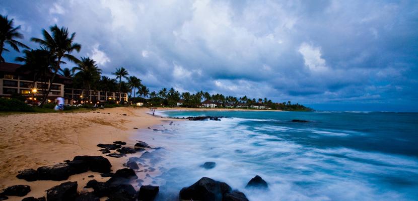 Playa Poipu en Hawái